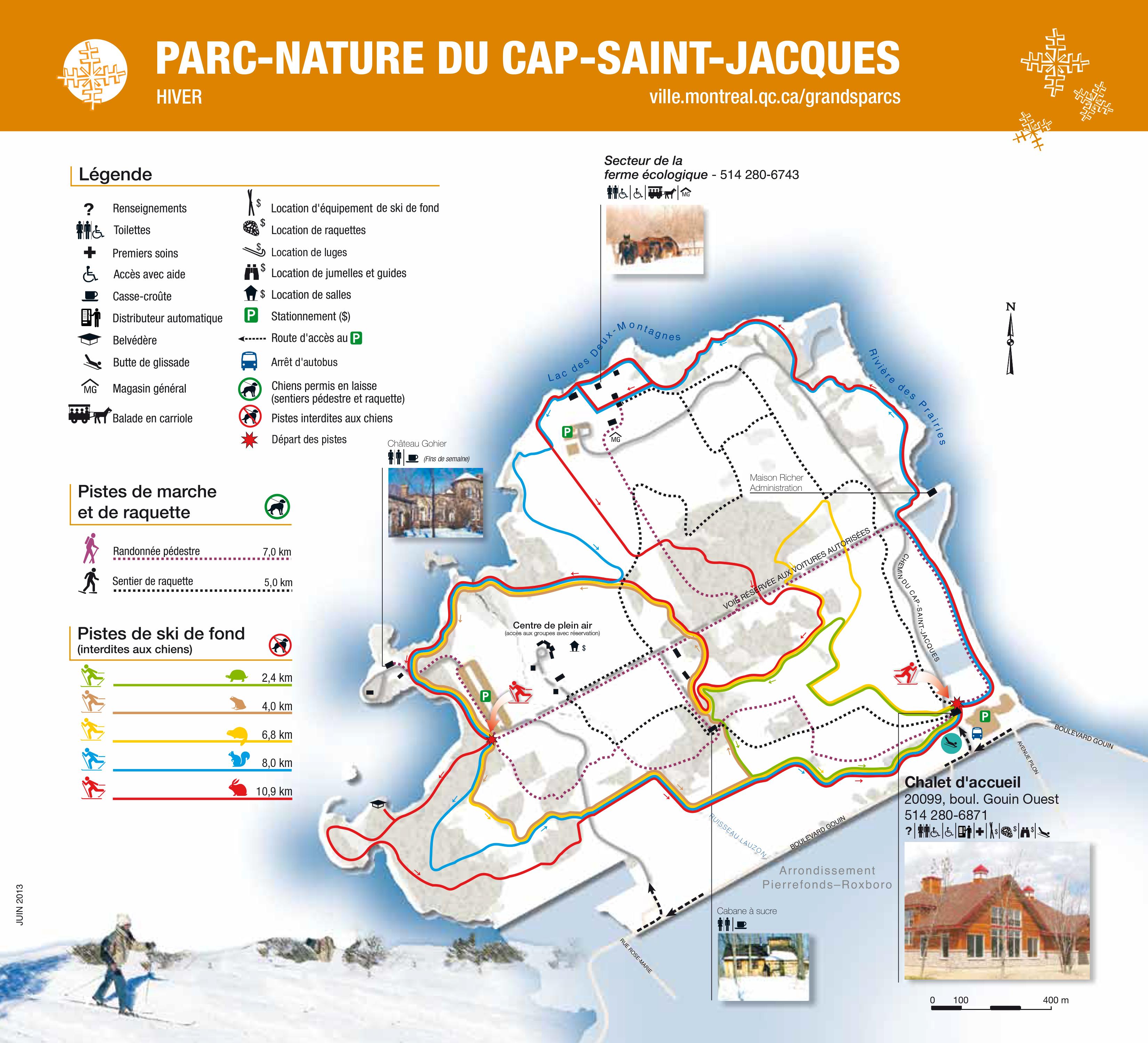 Parc nature cap saint jacques ski de fond montr al for Parc du jard saint dizier