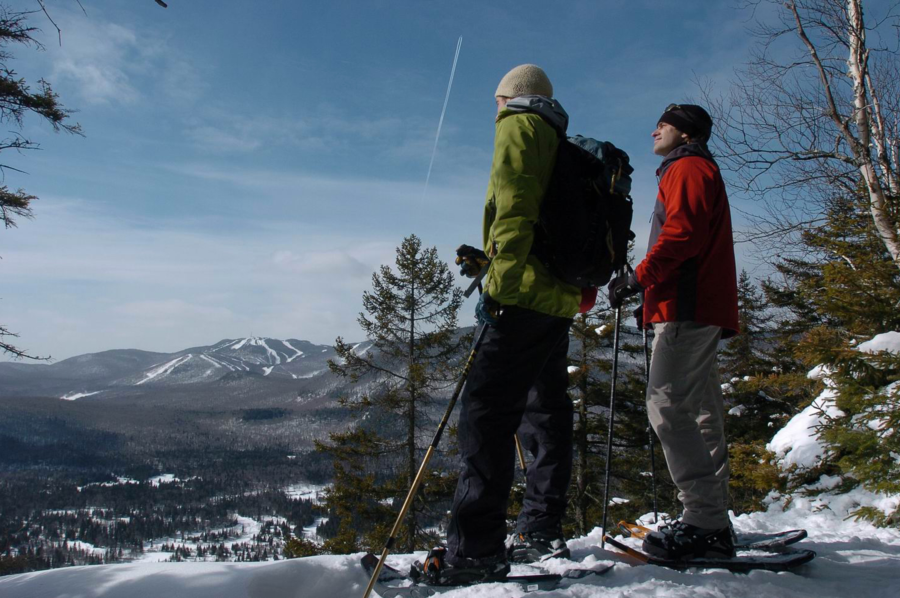 Parc national du Mont-Tremblant, randonnée en raquettes